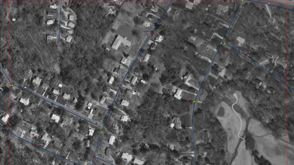 GIS Spatial Realignment of Water System Features